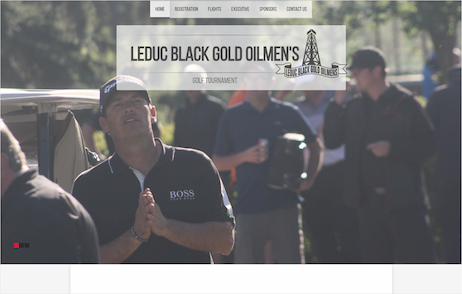 Leduc Oilmen's flights page built by Industrial NetMedia showing sponsors of their golf tournament
