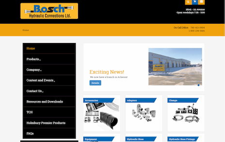Industrial NetMedia developed this multi-featured website for Bosch Hydraulics