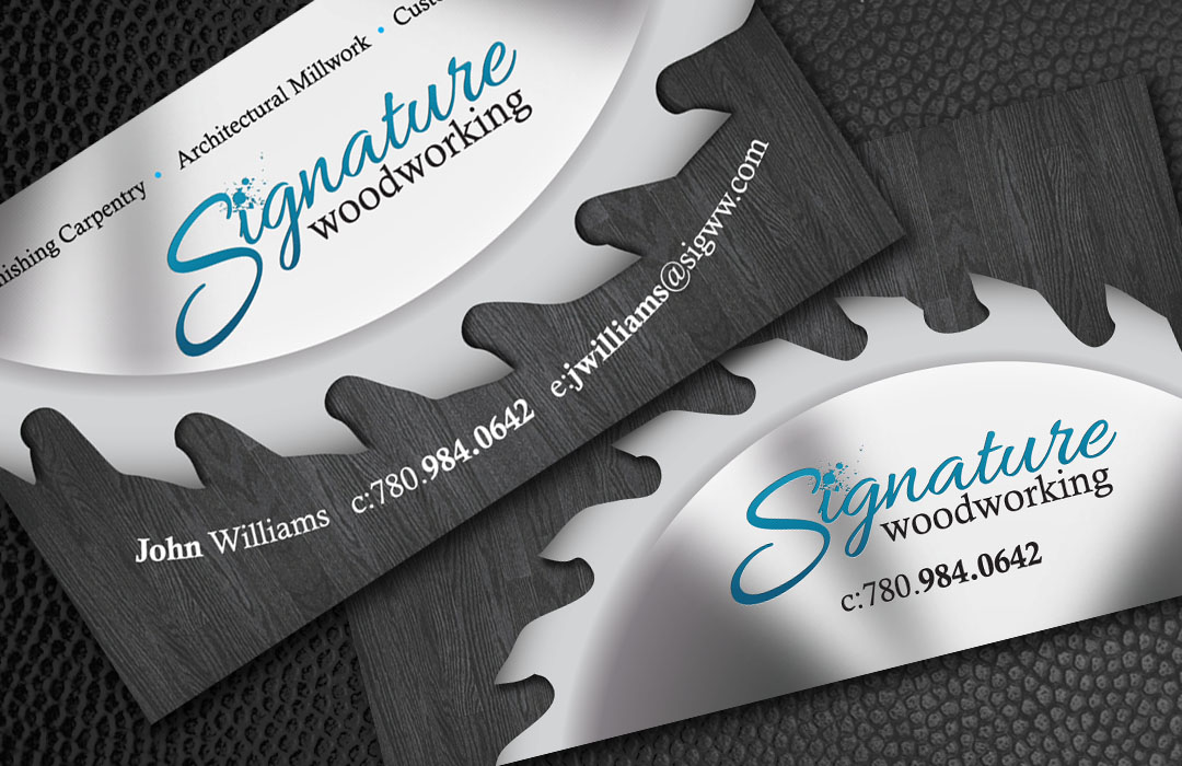Signature Woodworking Business Cards